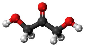 Molécula 3D de la dihidroxiacetona