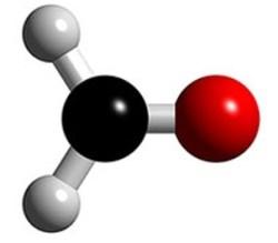 Molécula 3D del formaldehido