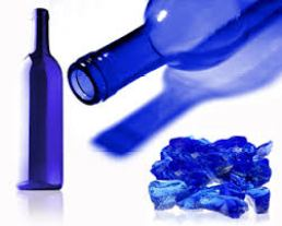 vidrio azul
