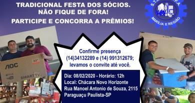 FESTA DOS ASSOCIADOS DO SINDICATO DOS QUÍMICOS