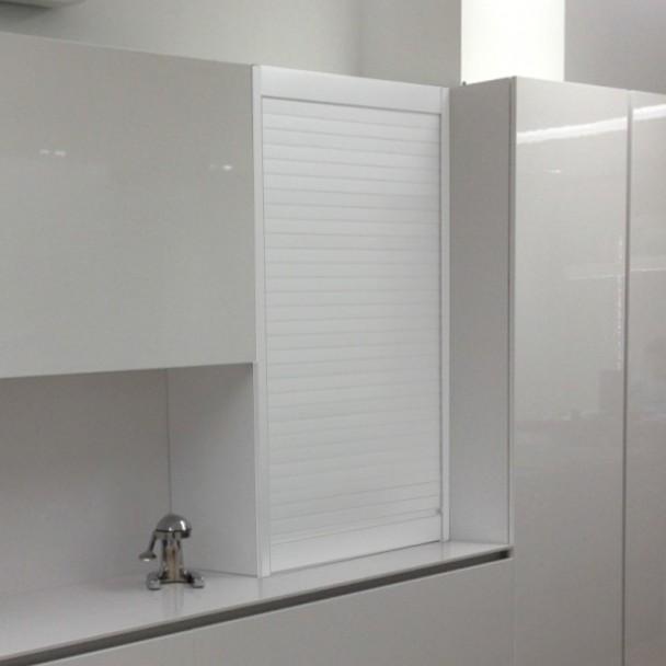 kit volet roulant aluminium blanc pour meubles de cuisine
