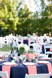 pink navy tables