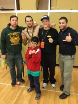 Jimmy Thompson, T-Town MMA, Edson Penado representing the Narrows Fight Team , Chris Stone from Gig Harbor MMA and Jeremy P. Seda of Quincy Brazilian Jiu-Jitsu