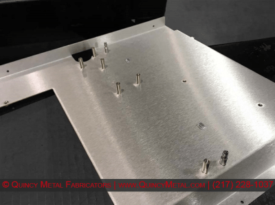 Quincy Metal Fabricators PEM Hardware Brushed Aluminum