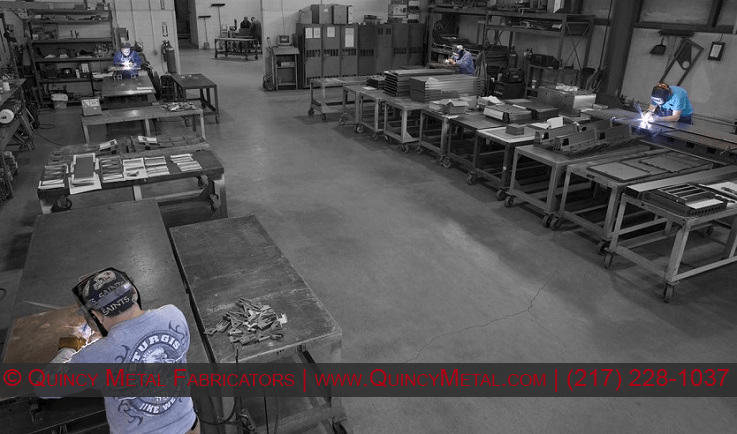 Another overview photo of Quincy Metal Fabricators precision welding department