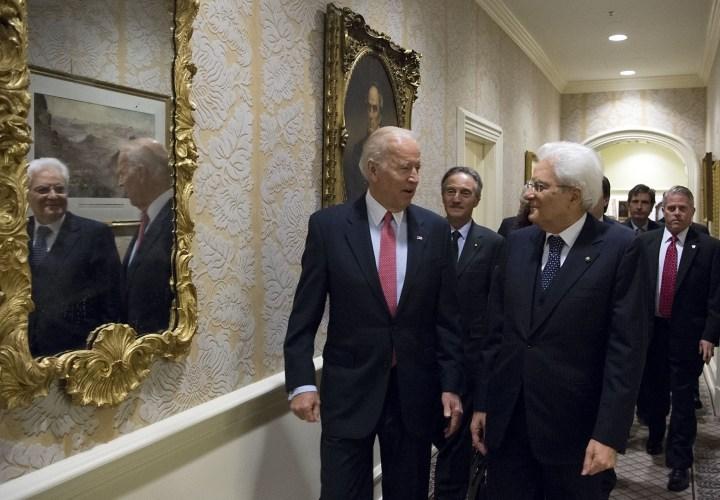 Mattarella a Biden