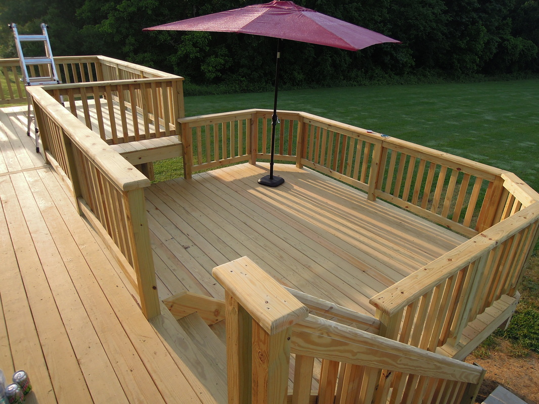 Wooden-pressure treated -Deck-deck-framing-quinju.com