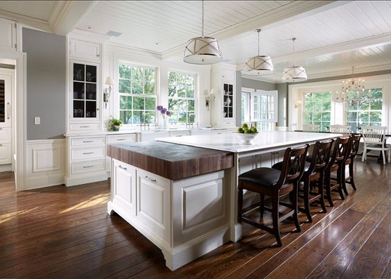 large spacious island-kitchen island design ideas-quinju.com