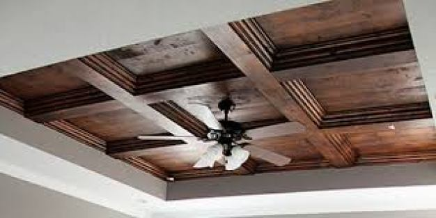 coffered ceiling with wood www.quinju.com