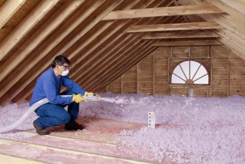 attic insulation / blown-in / quinju/com