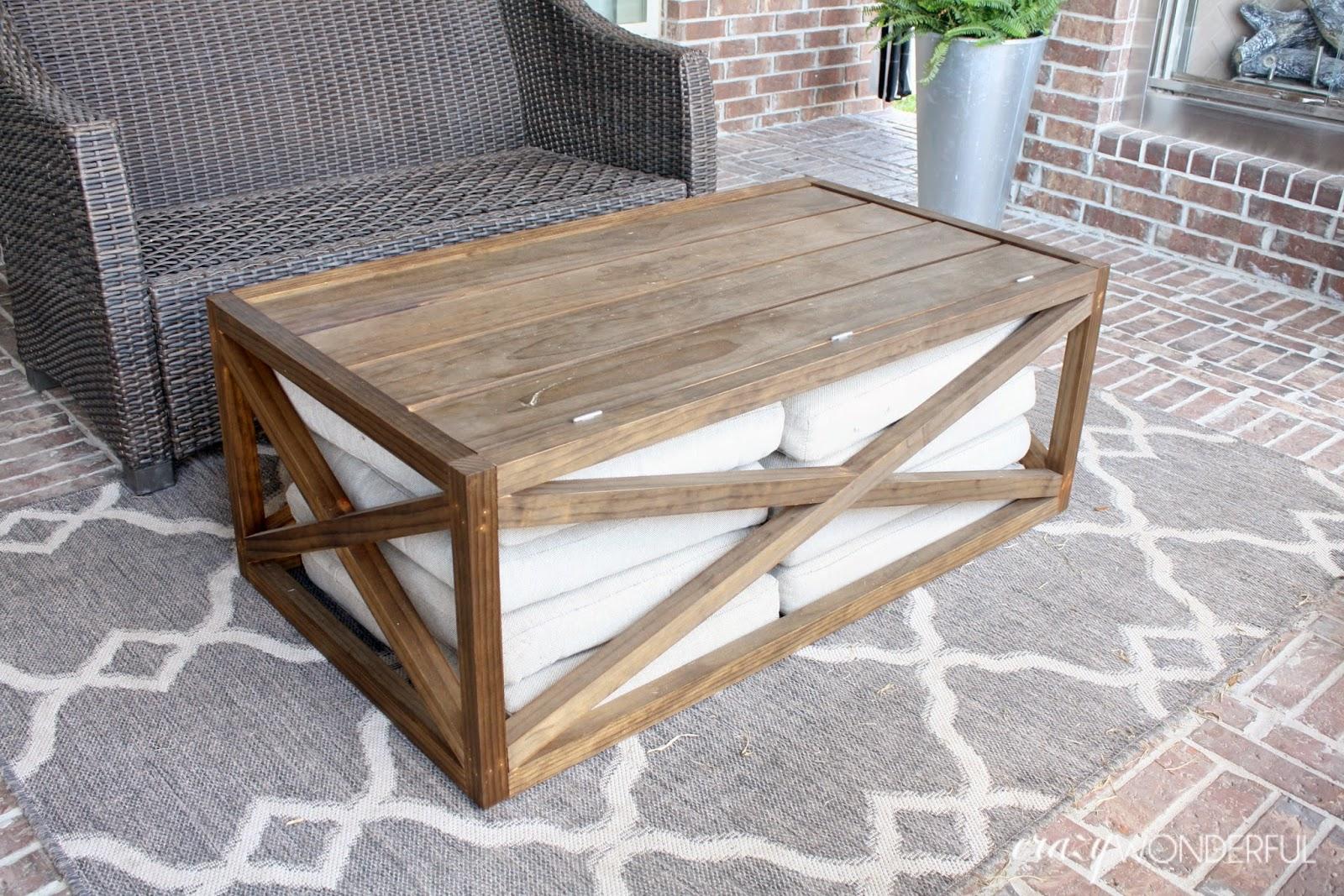 Diy Outdoor Coffee Table Quinju Com