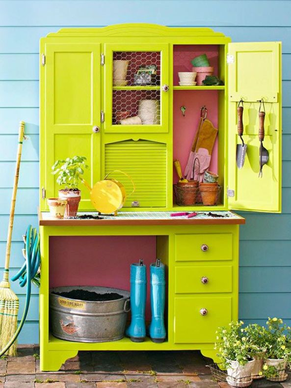 outdoor furniture - buffet hutch to storage - quinju.com