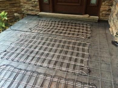 front porch project -snow melt system-quinu.com