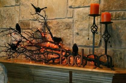 fireplace decor-holiday ideas-halloween-quinju.com