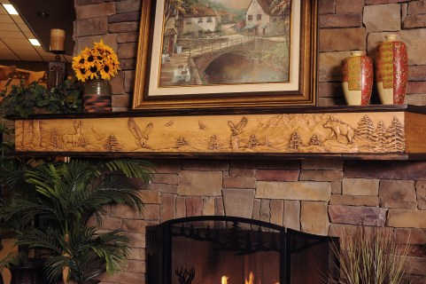 fireplace mantel -custom carved-personal decor-quinju.com