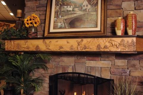 fireplace mantel -custom carved-personal decor-quinju.com