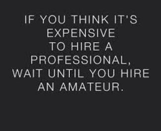 the cost to hire a renovation professional over amatuer