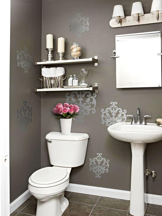 Bon Powder Room Makeover Storage Ideas Quinju.com