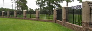 Fence / brick and steel / security / view / boundary / quinju.com