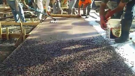 raised aggregate concrete www.quinju.com