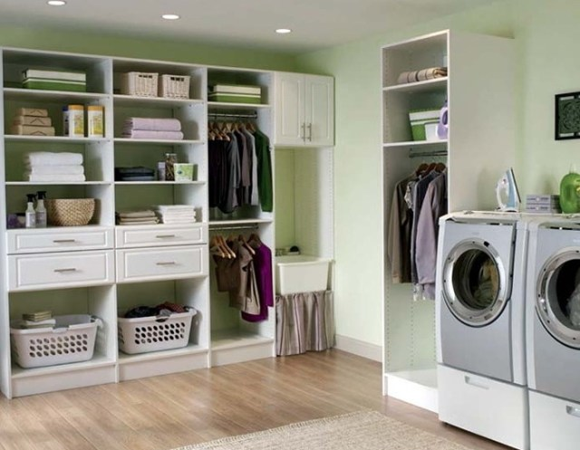 laundry room-design ideas-open shelf storage-quinju.com