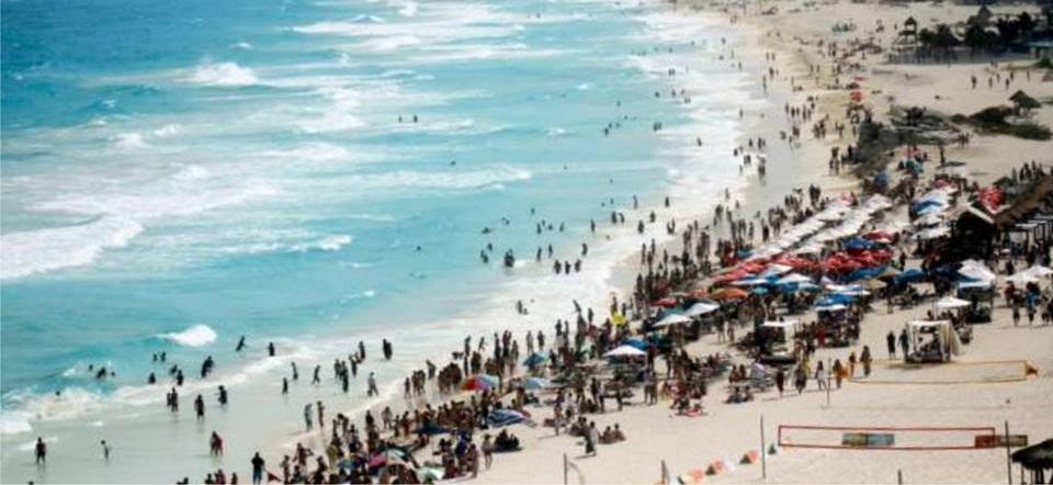 Resultado de imagen para playas llenas de bañistas
