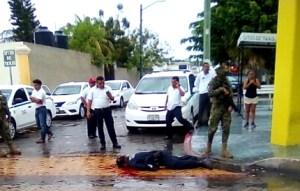 Ejecutan en Puerto Júarez a un policía municipal en activo