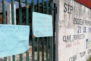 Padres de familia cierran escuela primaria en Cobá