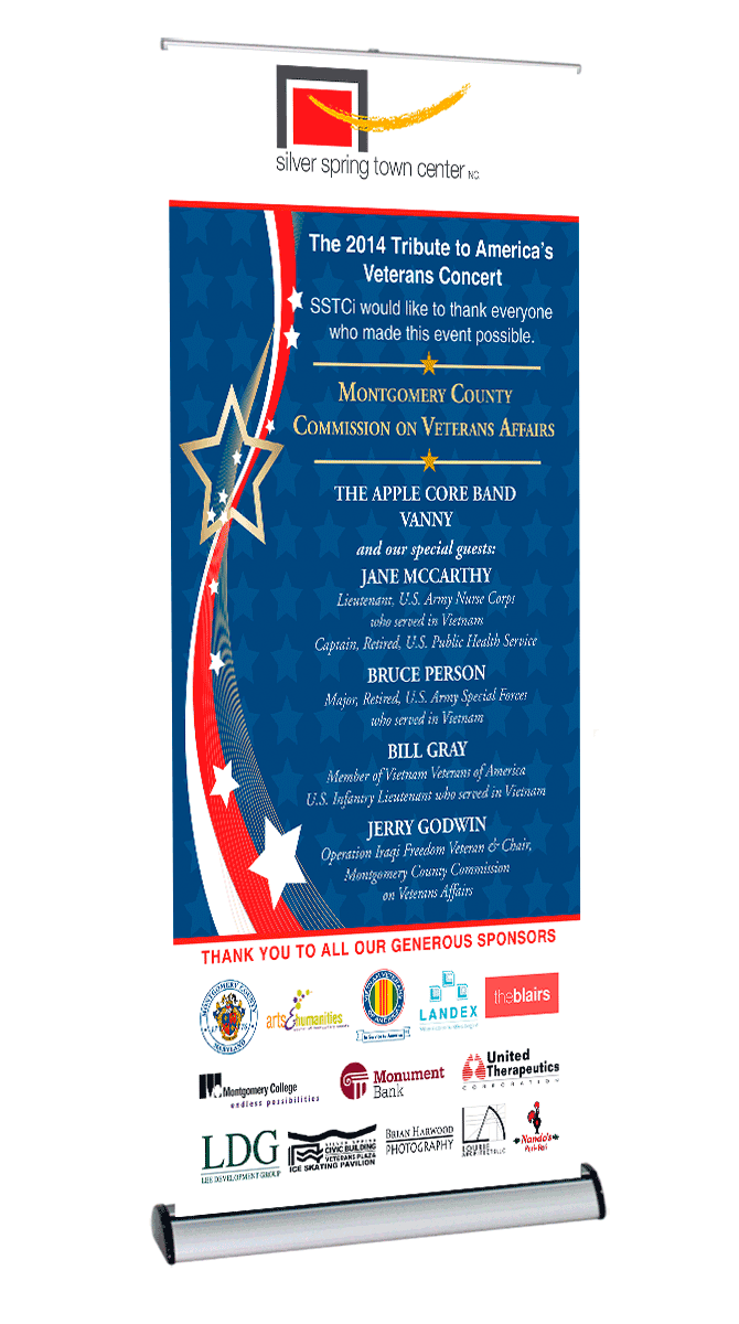 Silver Spring Town Center Veteran's Day Concert banner