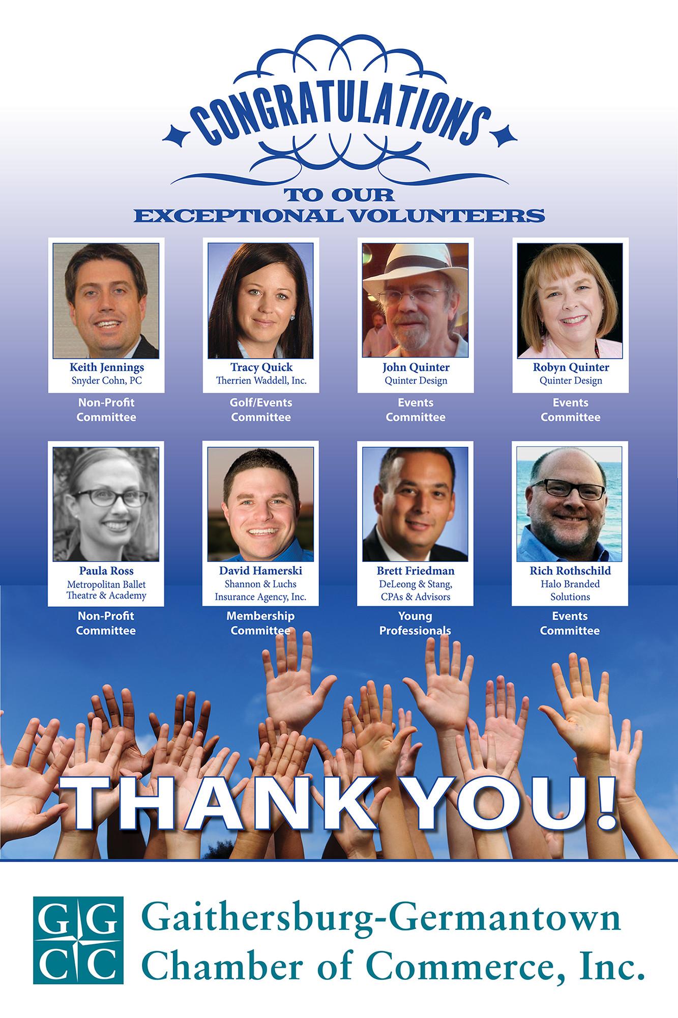 GGCC exceptional volunteers poster