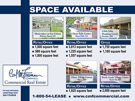 space available poster for Carl Freeman Commercial Real Estate