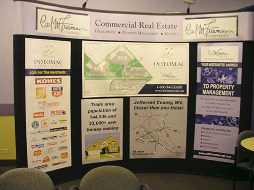 Carl Freeman Companies tradeshow display for ICSC convention