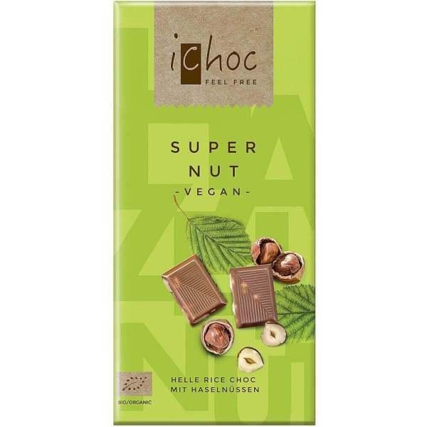 Chocolate vegano con leche de arroz y avellanas iChoc