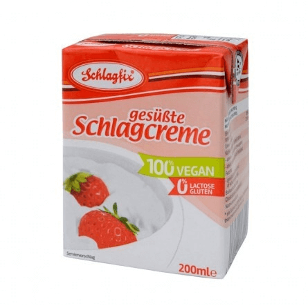 Nata vegetal dulce para montar Schlagfix, 200 ml.