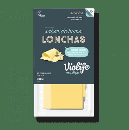 Queso ahumado vegano en lonchas Violife 200 gramos