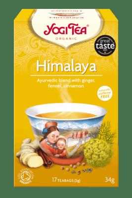 Yogi Tea Himalaya. El té clásico chai con un toque de jengibre e hinojo y un poquito de canela dulce. Se trata de una antigua receta, utilizada durante siglos en la tradición meditativa del Himalaya. Caja con 17 bolsitas.