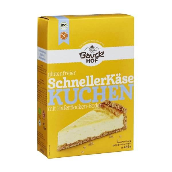 Mezcla para tarta de queso vegana Quick Cheesecake (schneller kaesekuchen). Sin gluten, elaborado con copos de avena. Sin aditivos ni saborizantes artificiales. 485 gramos.