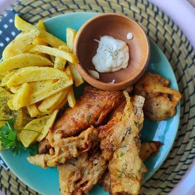 fish and chips veganos
