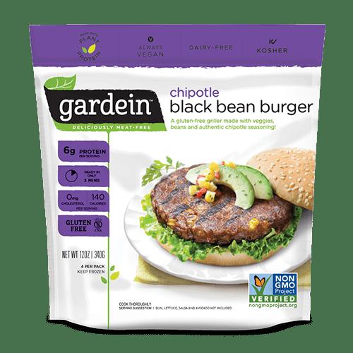 black bean chipotle burger de Gardein