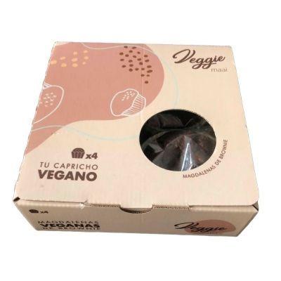 magdalenas muffin veganas tipo brownie