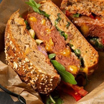 cheesburger vegetal hamburguesa vegana