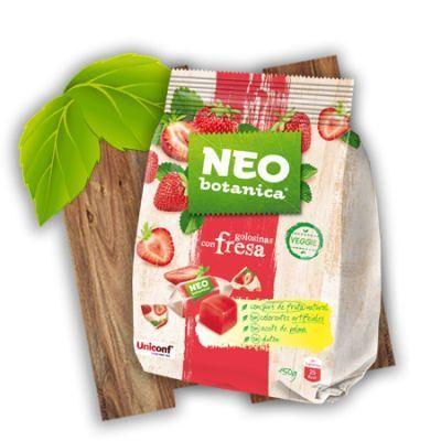 caramelos sin azúcar de gelatina vegana de fresa