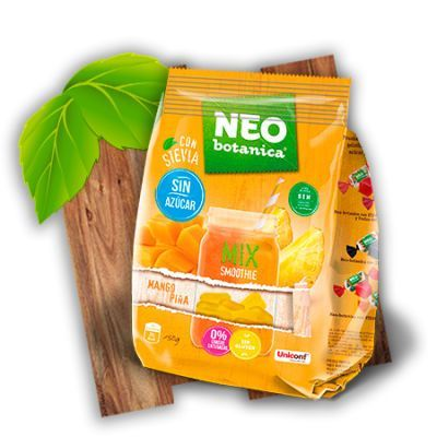 caramelos veganos sin gelatina ni azúcar piña mango