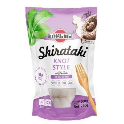 tiras de pasta konjac shirataki knot style