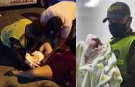 Una mujer dio a luz en plena vía pública y fue atendida por la Policía