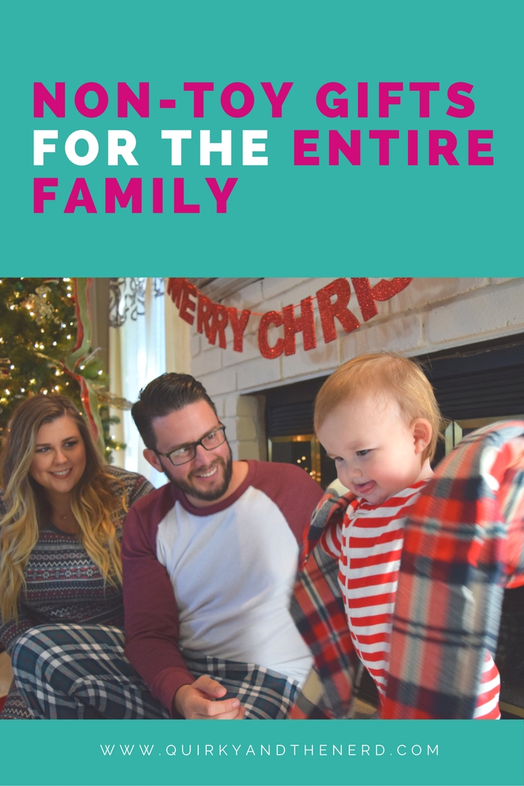 When you want to buy a family present for everyone, what do you buy? You don't want to just buy a toy. Here are four big ideas of presents for the entire family. quirkyandthenerd.com