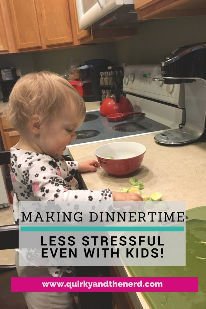 After a long day at work, dinnertime can be so stressful! So I wrote about the things I've started to do to make our weeknight dinners so much less stressful. Read about it at quirkyandthenerd.com