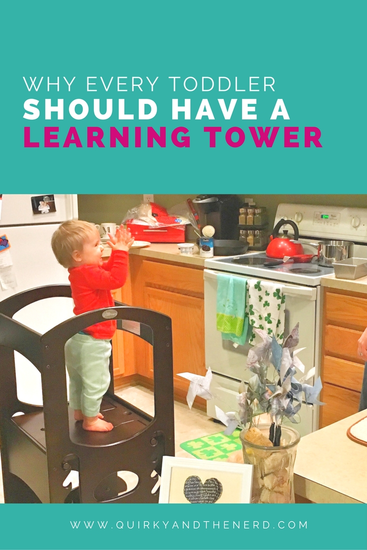 Despite being a proponent of not buying everything under the sun for a child, I definitely think everyone should buy a learning tower. Read about the three reasons I think every toddler should have a learning tower. quirkyandthenerd.com