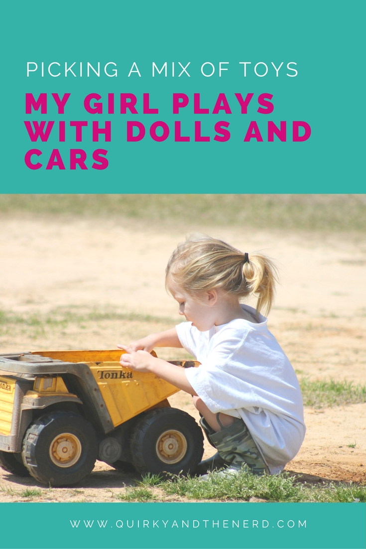 "Every child should have a range of toys instead of being forced to play with ""boy"" toys or ""girl"" toys. Read about what toys I recommend and a little bit about the male brain and the female brain theory. quirkyandthenerd.com"