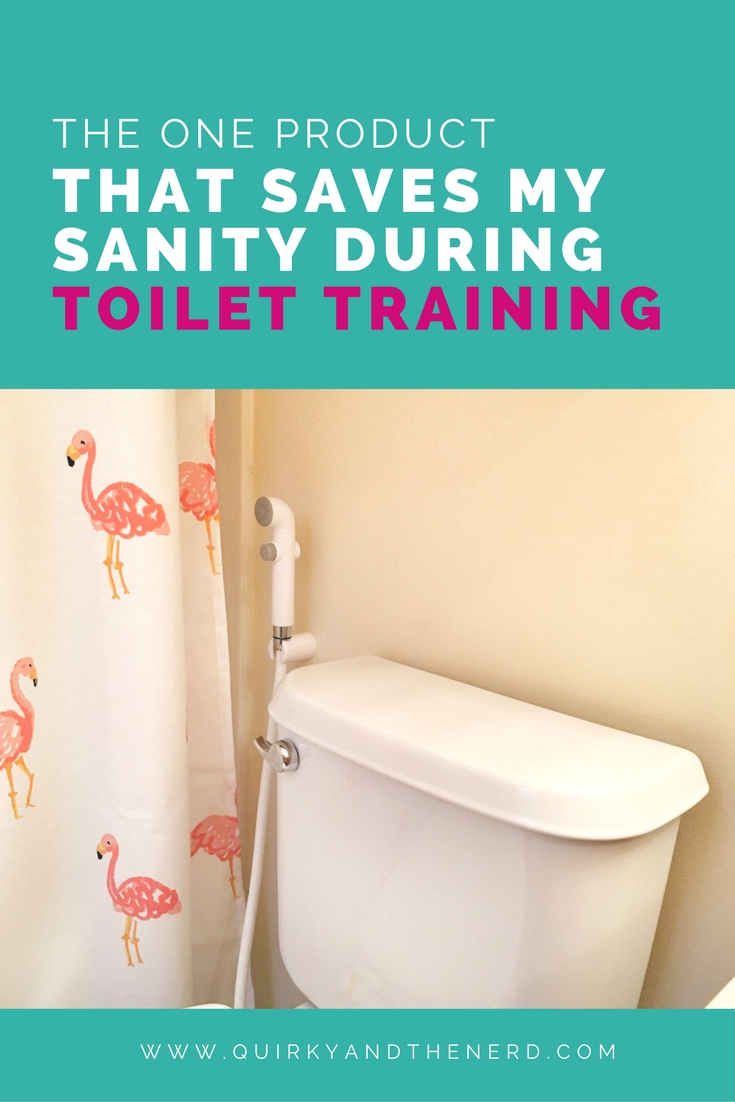 There is one product that I recommend to absolutely every single mother who is toilet training their toddler. It will help save your sanity (and a lot of underwear!) Read about it at quirkyandthenerd.com